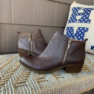 NEW *LUCKY BRAND* Basel Leather Double Zip Bootie